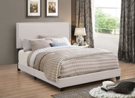 Coaster Boyd Upholstered Nailhead Headboard in Ivory