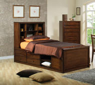 Coaster Scottsdale Bookcase Storage Bed in Dark Brown