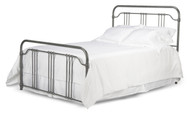 Fashion Bed Group Caldwell in Brushed Silver with bedding