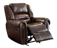Homelegance Center HIll Glider Reclining Chair in Brown 2