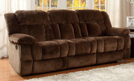 Homelegance Laurelton Dual Reclining Sofa In Chocolate Plush Microfiber