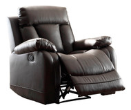 Homelegance Ackerman Collection Reclining Chair in Black Leather  2