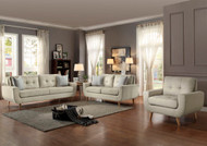 Homelegance Deryn Collection Sofa in Beige Polyester 2