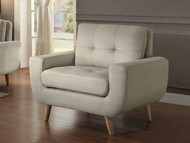 Homelegance Deryn Collection Chair in Beige Polyester