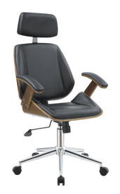 coaster seville modern office chair in black