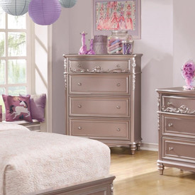 Coaster Caroline 4 Drawer Tall Chest In Lilac Dealbeds Com