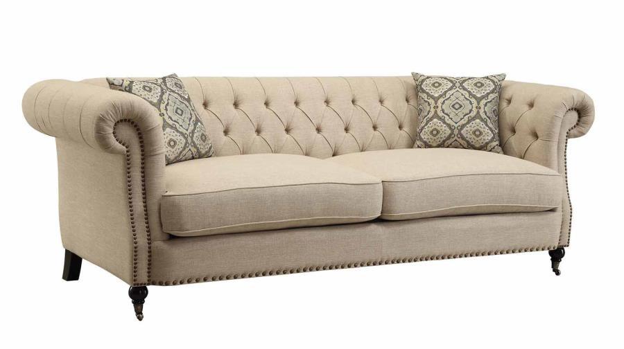 Coaster Trivellato Traditional Button Tufted Sofa In