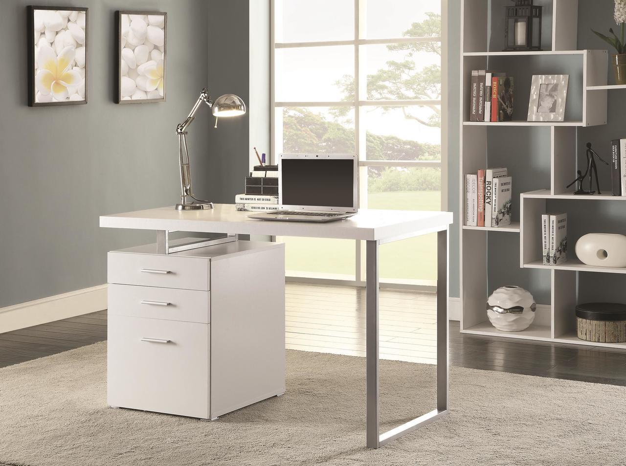 Coaster Hilliard Contemporary Writing Desk In White