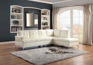 Homelegance Barrington Bi Cast Sectional Sofa in White