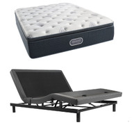 Simmons Beautyrest Silver Plush Pillow Top Mattress with SmartMotion 1.0 Adjustable Bed Set