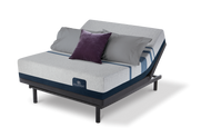 Serta iComfort Blue 500 Plush Mattress with Motion Essentials III Adjustable Bed Set
