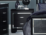 Homelegance Allura Collection Nightstand in Black