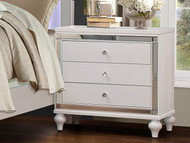Homelegance Alonza Collection Nightstand in White