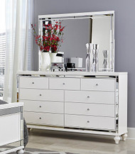 Homelegance Alonza Collection Mirror in White with Dreser