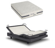 iDealBed Heavenly Hybrid Mattress with Reverie 7S Adjustable Base Set