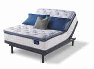 Serta Perfect Sleeper Willamette Super Pillow Top Mattress with Motion Essentials III Adjustable Bed Base