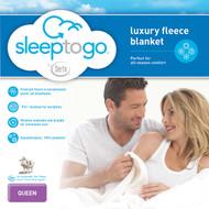 Sleep to Go by Serta Luxury Fleece Blanket