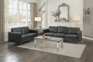Homelegance Breaux Collection Loveseat in Dark Grey