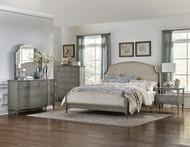 Homelegance Albright Collection Upholstered Bed in Oak