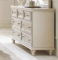 Homelegance Celandine Collection Mirror in Silver with Dresser
