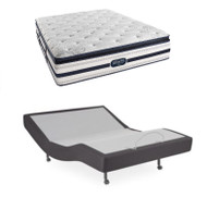 Leggett & Platt S-Cape Adjustable Base with Beautyrest Ultra 850 Plush Pillow Top Mattress Full XL Set