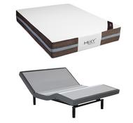 MLily Fusion Hybrid  Latex Mattress with Leggett & Platt S-Cape 2.0 Adjustable Base Set