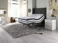 Queen Beautyrest Recharge Plush Pillow Top Mattress Renew Grey Adjustable Bed Set