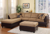 Comfort Living Sectional in Toffee
