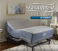 Simmons Beautyrest Silver Hybrid Harrison Shores Plush Mattress with SmartMotion 1.0 Adjustable Bed Base