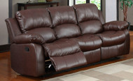 Homelegance Cranley Double Reclining Brown Leather Sofa