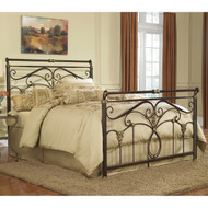 Fashion Bed Group Lucinda Sleigh Bed Marbled Russet in room
