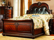 Homelegance Palace Collection Sleigh Bed in Rich Brown