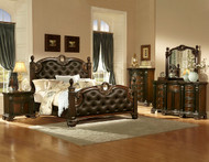 Homelegance Orleans Collection Poster Bed in Rich Cherry