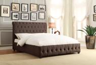Homelegance Baldwyn Dark Grey Linen Upholstered Bed