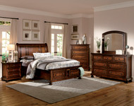 Homelegance Cumberland Collection Platform Bed - Brown Cherry