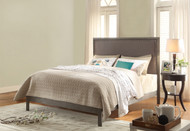 Fashion Bed Group Normandy Upholstered Bed in Steel Gray/Distressed Charcoal