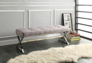 Homelegance Rory X-Base Bench Grey Linen