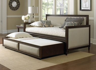 Upholstered Daybed fashion bed group grandover wood upholstered daybed espresso with