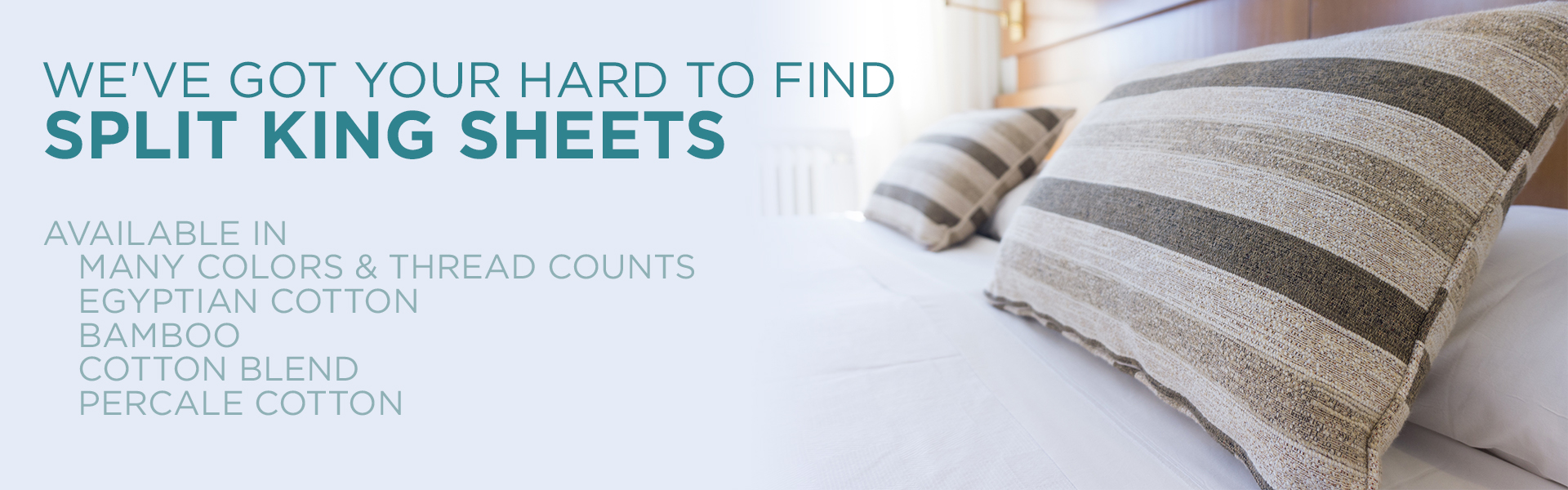 Split King Sheets, 100% Egyptian Cotton Bedding, 900 GSM Towels, Dual King  Sheets