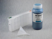 1 x Refillable Cartridge for the Epson Pro 4900 with 1 x 0.5 Liter Bottle of Cave Paint Elite Enhanced pigment ink - Cyan