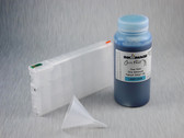 1 x Refillable Cartridge for the Epson Pro 4900 with 1 x 0.5 Liter Bottle of Cave Paint Elite Enhanced pigment ink - Light Cyan