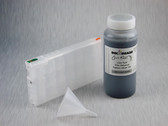 1 x Refillable Cartridge for the Epson Pro 4900 with 1 x 0.5 Liter Bottle of Cave Paint Elite Enhanced pigment ink - Light Light Black
