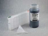 1 x Refillable Cartridge for the Epson Pro 4900 with 1 x 0.5 Liter Bottle of Cave Paint Elite Enhanced pigment ink - Photo Black