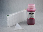 1 x Refillable Cartridge for the Epson Pro 4900 with 1 x 0.5 Liter Bottle of Cave Paint Elite Enhanced pigment ink - Vivid Light Magenta