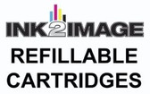 1 x Refillable Cartridge for the Epson Pro 7000 with 1 x 0.5 Liter Bottle of i2i Absolute Match E1 dye ink - Magenta