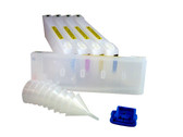 Refillable Cartridge set (5) for the Epson Pro 7700/9700 - empty - no inks - includes resetter