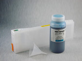 1 x Refillable Cartridge for the Epson Pro 7700/7890/7900/9700/9890/9900 with 1 x 0.5 Liter Bottle of Cave Paint Elite Enhanced pigment ink - Cyan (chip resetter needs to be ordered separately)
