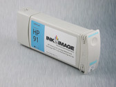 Re-manufactured 775 ml Cartridge for HP Z6100 filled with i2i Absolute Match HP91 pigment ink - Light Cyan