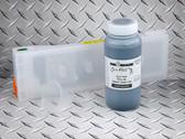 1 x Refillable Cartridge for the Epson SureColor P6000, P7000, P8000, P9000 with 1 x 0.5 Liter Bottle of Cave Paint Elite HD pigment ink - Light Black