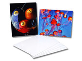 "Sublim8 Aluminum dye sublimation panel 0.032"" X 4"" X 6"" Gloss White, 1/8"" radius corners, pack of 10"